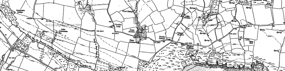 Old map of Freshwater East in 1906