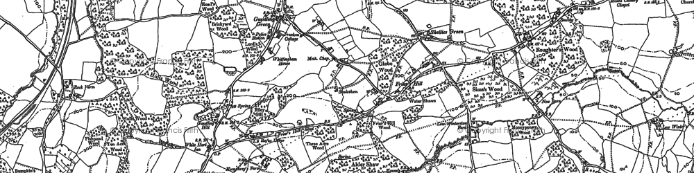 Old map of Bachelor's Bump in 1907