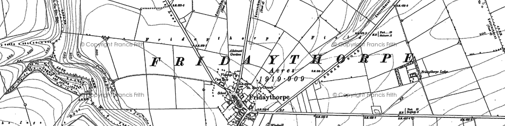 Old map of Westfield in 1891
