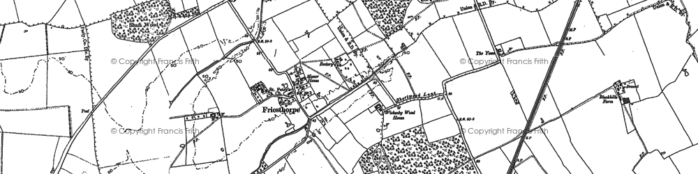 Old map of Wickenby Wood in 1886