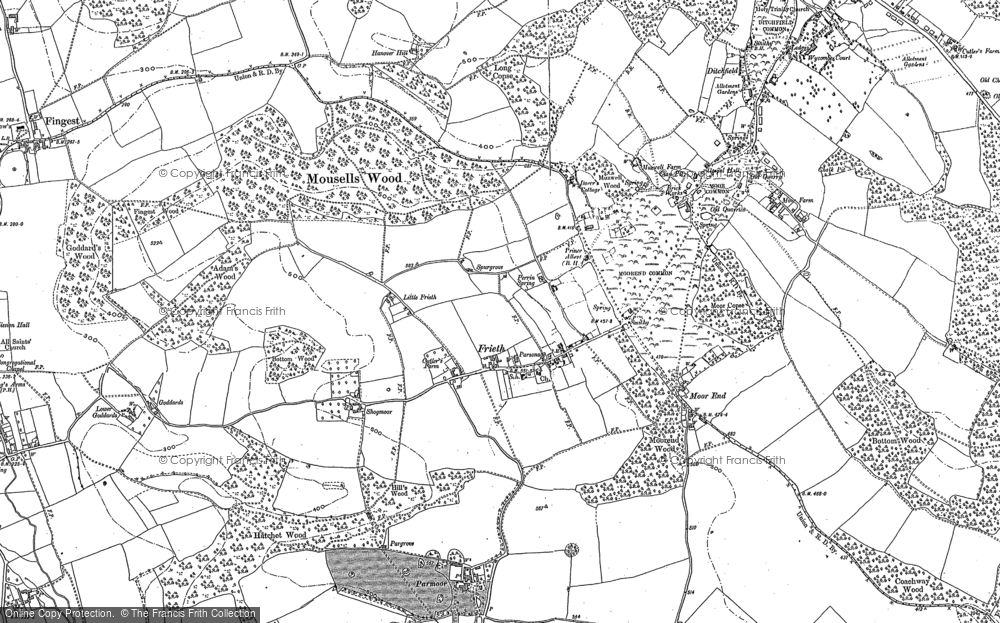 Old Map of Frieth, 1897 in 1897