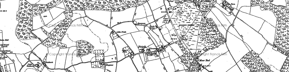 Old map of Moor Common in 1897