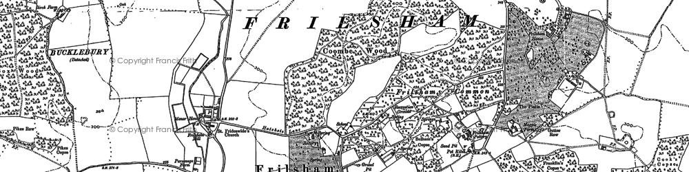 Old map of Frilsham in 1898