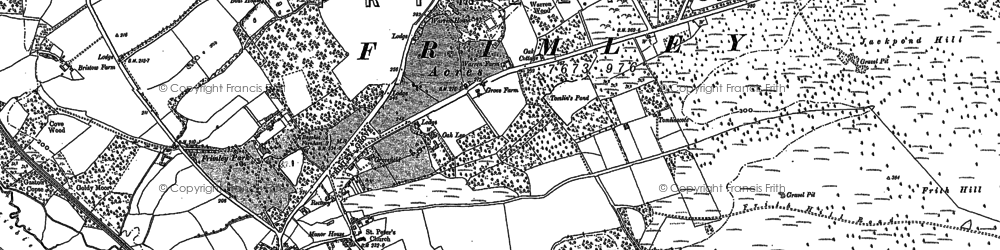Old map of Frimley in 1913