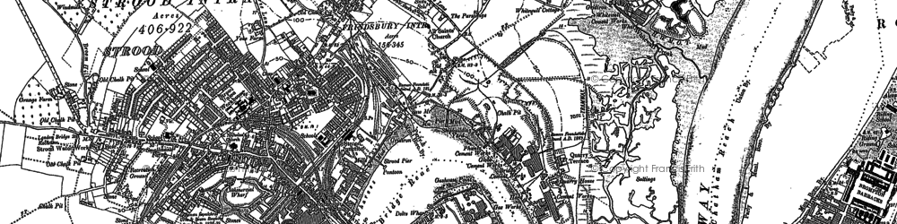 Old map of Frindsbury in 1895