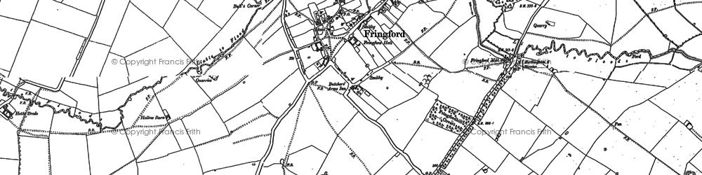 Old map of Willaston Village in 1898