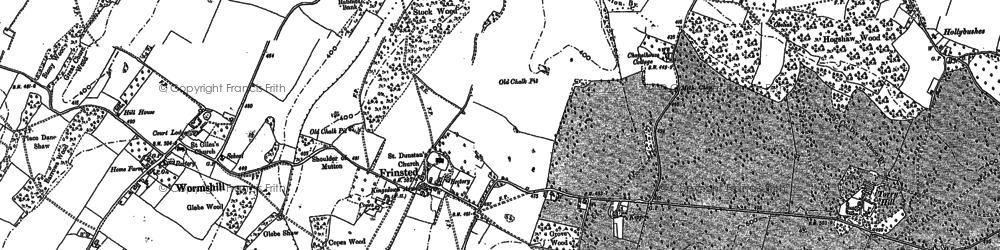 Old map of Wrinsted Court in 1896