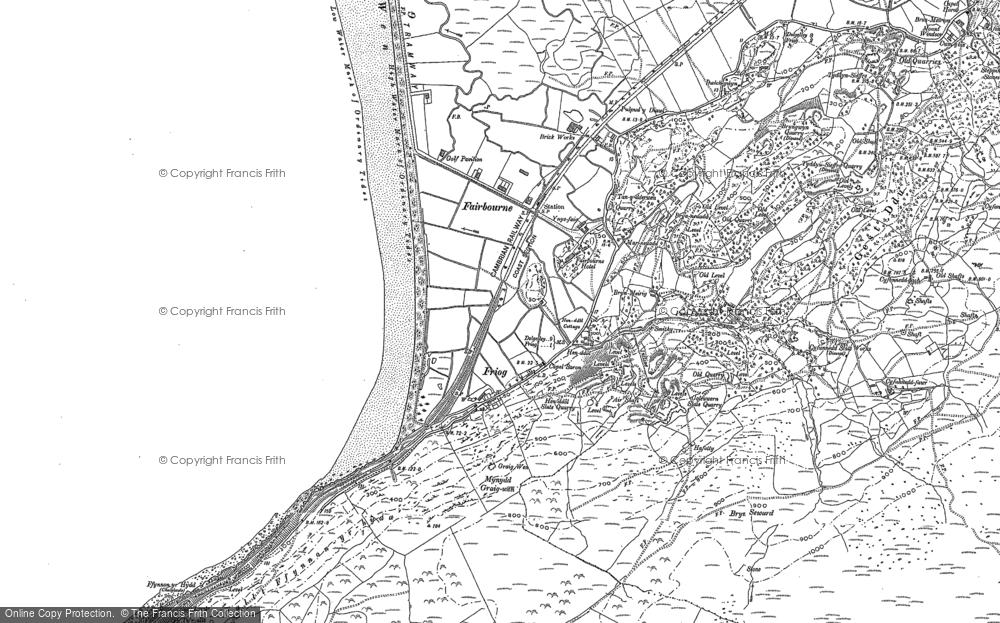Old Map of Historic Map covering Afon Dyffryn in 1900