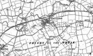 Old Map of Frisby on the Wreake, 1883 - 1884