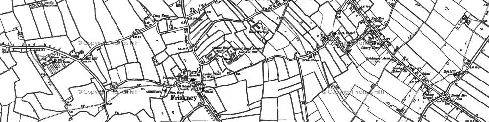 Old map of Abbey Hills (Earthworks) in 1887