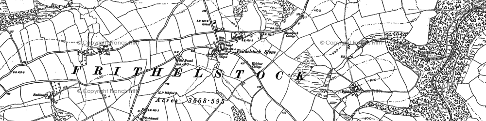 Old map of River Duntz in 1886