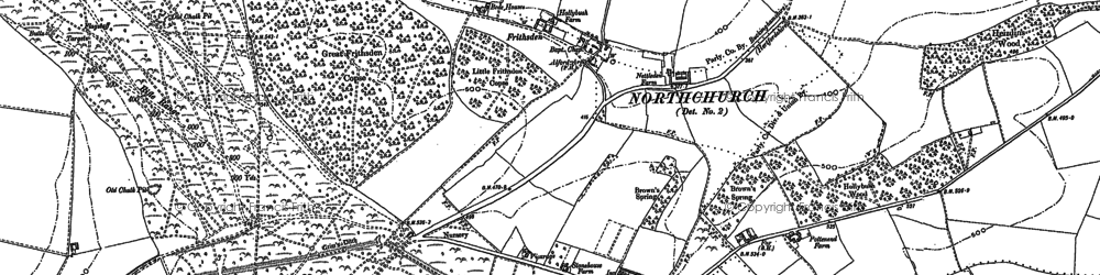 Old map of Frithsden in 1897