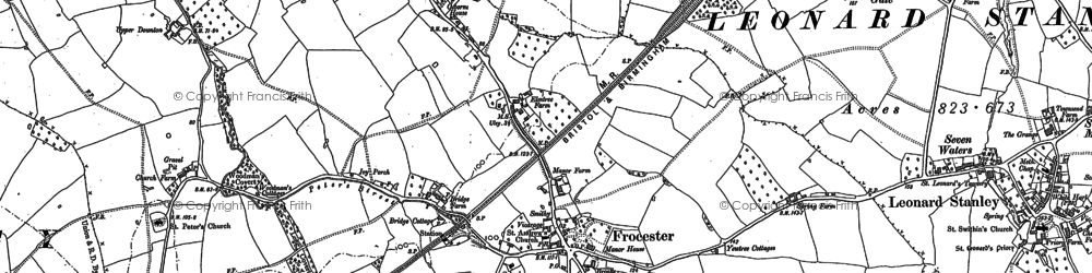 Old map of Frocester in 1882