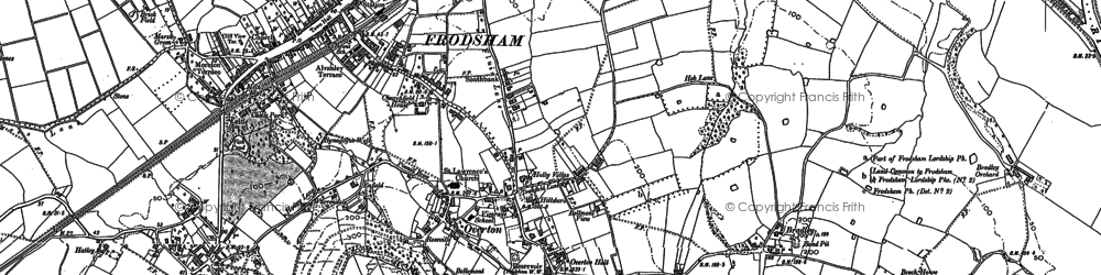 Old map of Frodsham in 1897