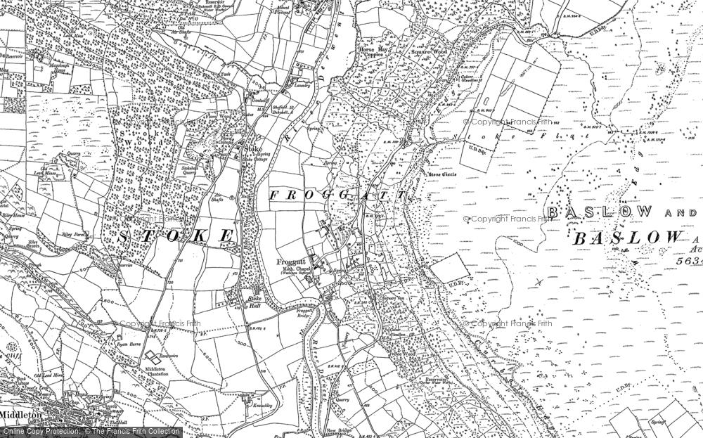 Map of Froggatt, 1878 - 1880