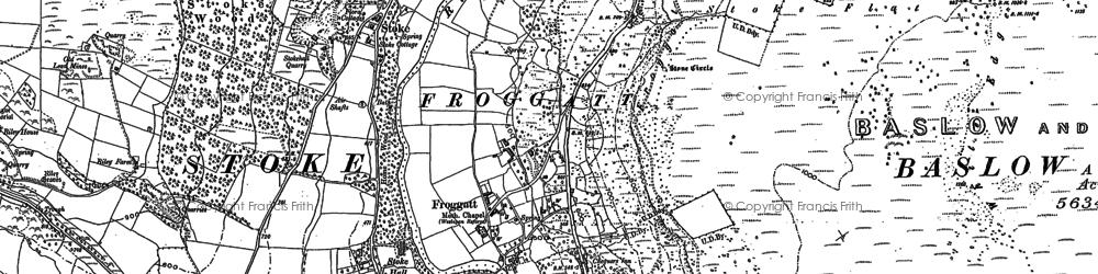 Old map of Froggatt in 1878