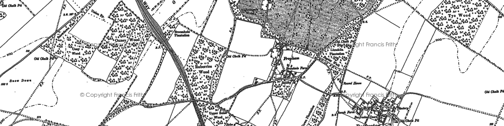 Old map of Frogham in 1896