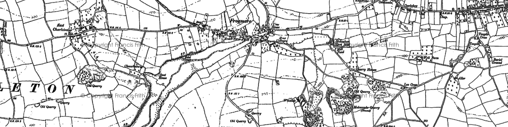 Old map of Frogmore in 1905