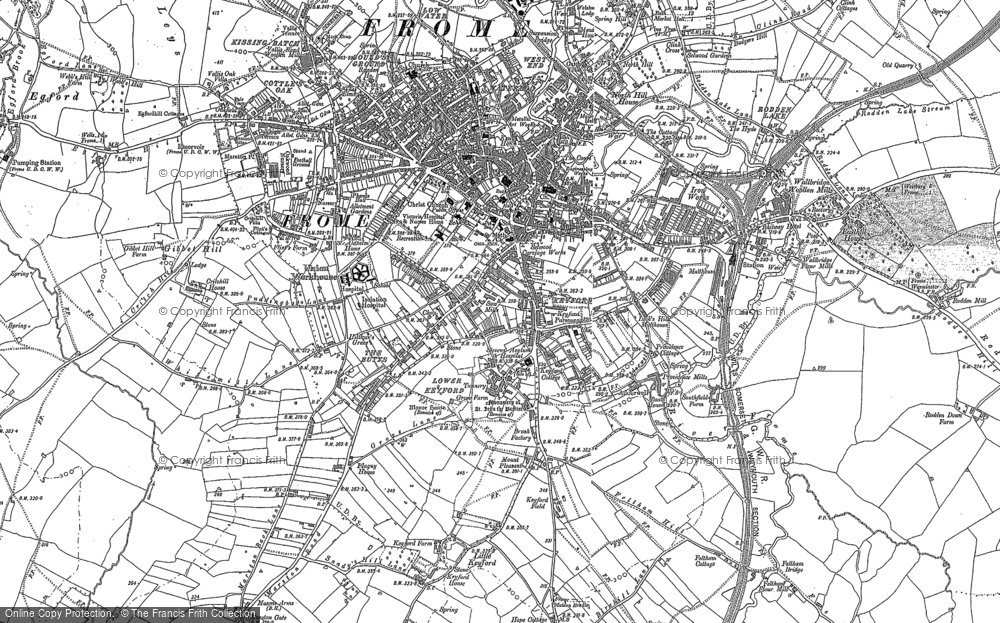 Old Map of Frome, 1902 in 1902