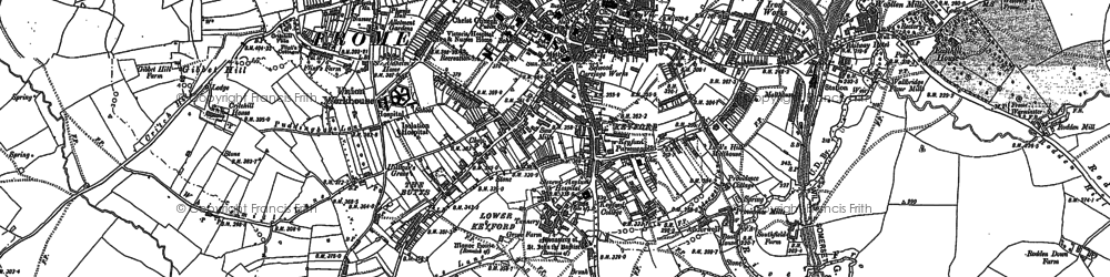 Old map of Frome in 1902