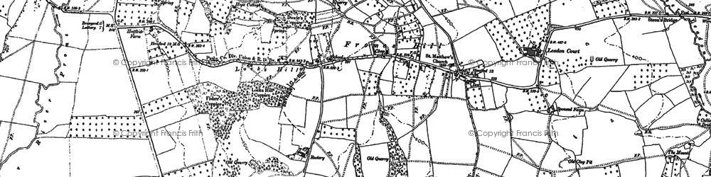 Old map of Leadon Court in 1886