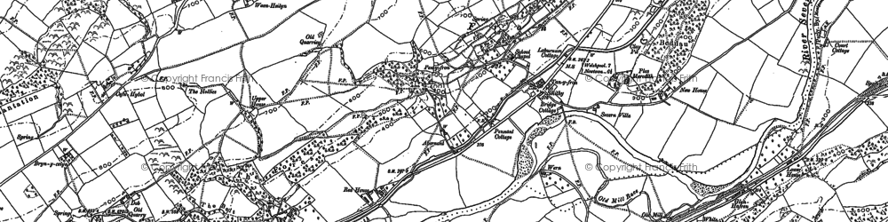 Old map of Abernant in 1884