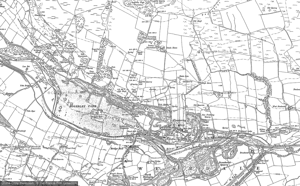 Old Map of Historic Map covering Allotment Ho in 1896