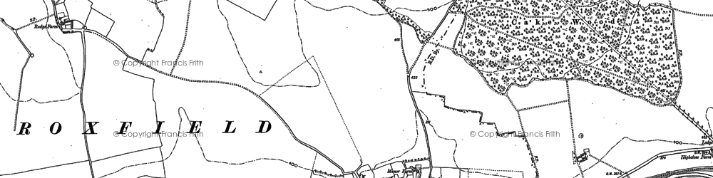 Old map of Almshouse Copse in 1909