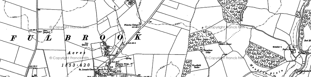 Old map of Widley Copse in 1889