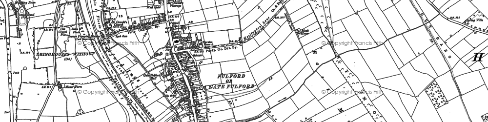 Old map of Fulford in 1890