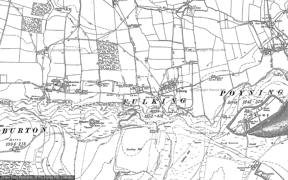 Old Map of Fulking, 1896 - 1897 in 1896