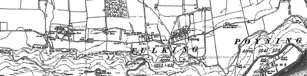 Old map of Wickhurst Barns in 1896