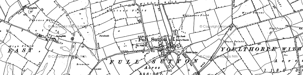 Old map of Winter Beck in 1890