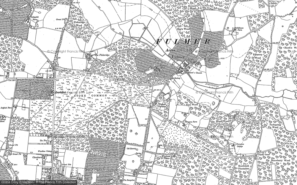 Old Map of Historic Map covering Alderbourne Manor in 1897