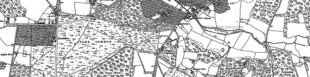 Old map of Alderbourne Manor in 1897