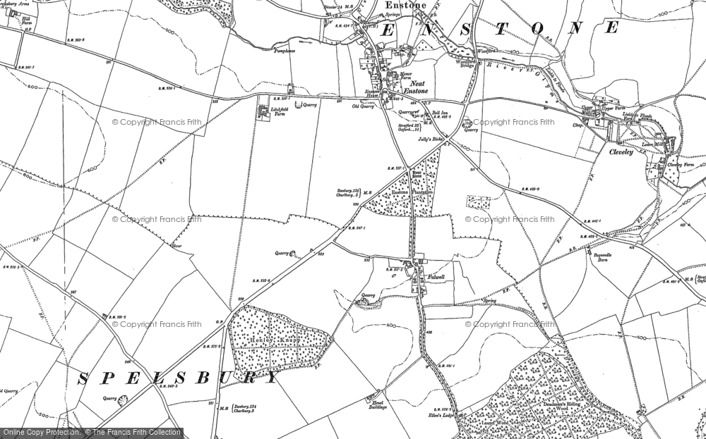 Old Map of Fulwell, 1898 in 1898