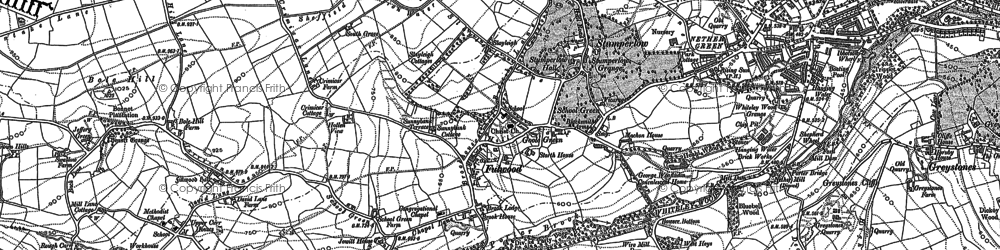 Old map of Fulwood in 1892