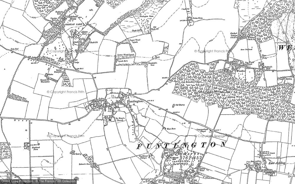 Old Map of Historic Map covering Woodend in 1874