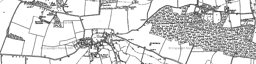 Old map of Adsdean Ho in 1885