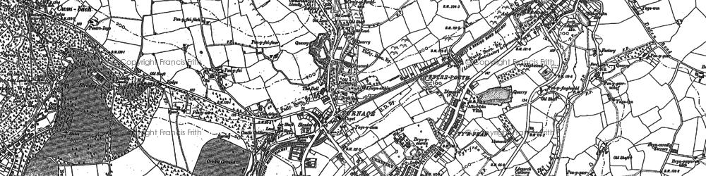 Old map of Pentre-Poeth in 1878
