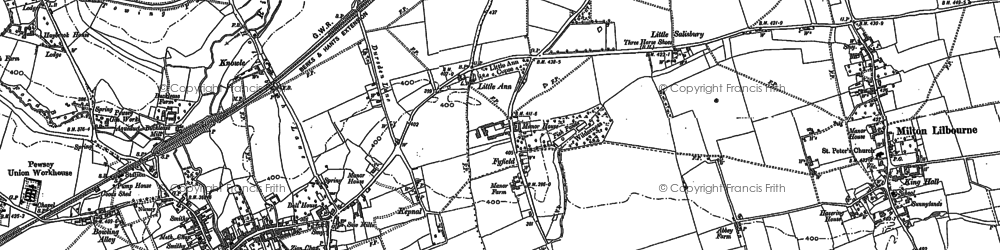 Old map of Fyfield in 1899