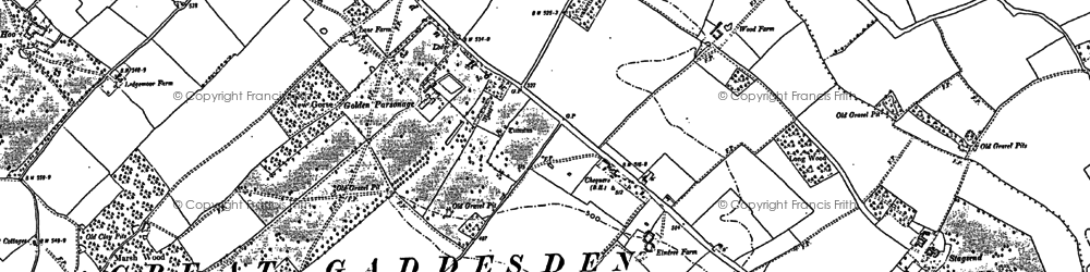 Old map of Ballingdon Bottom in 1897