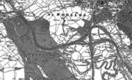 Old Map of Gaer, 1900