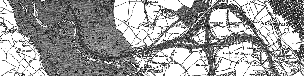 Old map of Level of Mendalgief in 1900