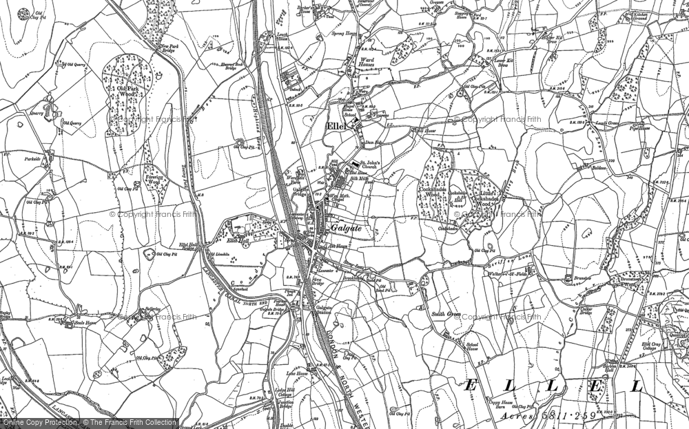Old Map of Galgate, 1910 in 1910