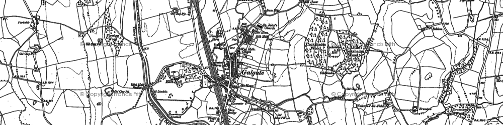 Old map of Galgate in 1910