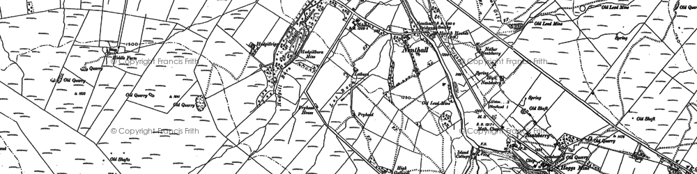 Old map of Whimsey Hill in 1898