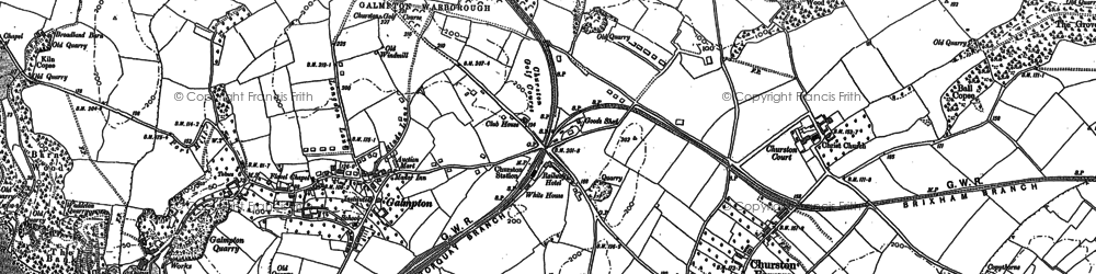 Old map of Galmpton in 1886