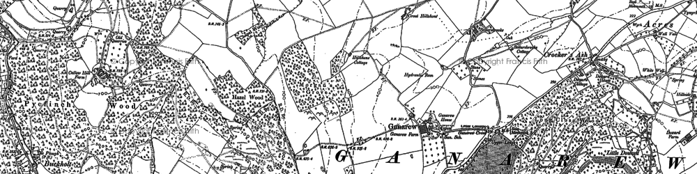 Old map of Wyastone Leys in 1887