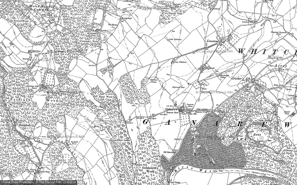 Old Map of Historic Map covering Lewstone in 1887